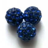 Shamballa 10 mm - modrá (10 ks)